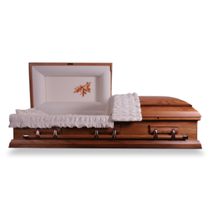 Autumn Oak Casket. Massive Saving over £1300